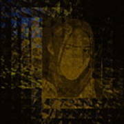 Portrait Reflection From Fresnel Prisms Poster