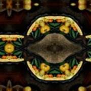 Portrait  Setting Of Fruit Reflection Art Poster
