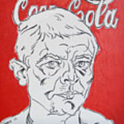 Portrait With Coca Cola Poster