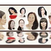Portraits Of Lovely Asian Women  Poster