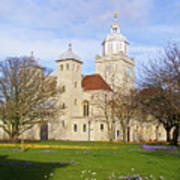 Portsmouth Cathedral At Springtime Poster