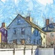 Portsmouth New Hampshire Pencil Poster