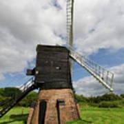 Post Mill Windmill Poster