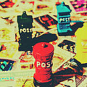 Postage Pop Art Poster
