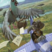 Postal Bird Poster by Martin Davey