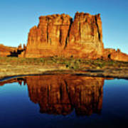 Pothole Reflections - Arches National Park Poster