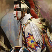 Pow Wow First Nation Dancer Poster
