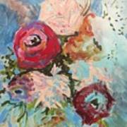 Powder Blue Roses Poster