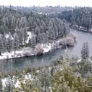 Powdered Spokane River Poster