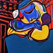 Power Nap  Picasso By Nora Poster