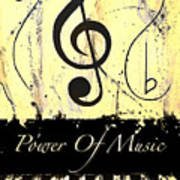 Power Of Music Yellow Poster