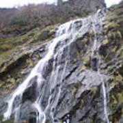 Powerscourt Waterfall In Ireland Poster