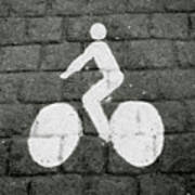 Prague Bike Lane-  By Linda Woods Poster