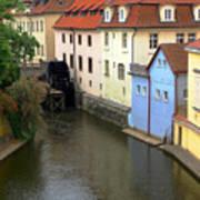 Prague Canal Mill Poster