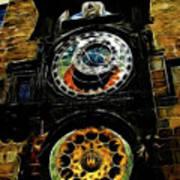 Prague Clock Poster