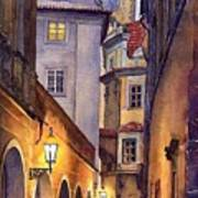 Prague Old Street  Poster by Yuriy  Shevchuk