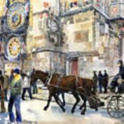 Prague Old Town Square Astronomical Clock Or Prague Orloj  Poster by Yuriy  Shevchuk
