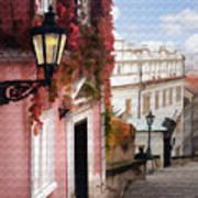 Prague Stairs Poster
