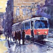 Prague Tram 02 Poster