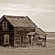Prairie Home Sepia Poster
