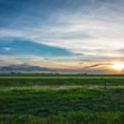 Prairie Sunset Poster