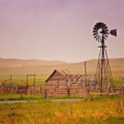 Prairie Windmill Poster