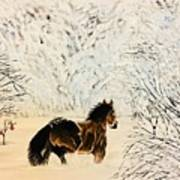 Prancing Through The Snow Poster