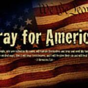 Pray For America Poster by Shevon Johnson