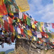 Prayer Flags In Happy Valley Poster