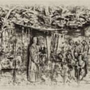 Prayer Meeting At Jamestown Poster