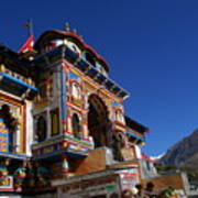Prayers At Badrinath Temple Poster