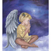 Praying Angel Poster
