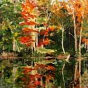Prentiss Pond, Dorset, Vt., Autumn Poster