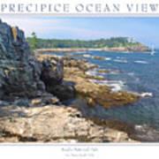 Precipice Ocean View Poster