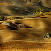 Preparation For Sowing - Volterra (pi) - Toscana - Italy Poster