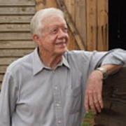 President Carter At His Boyhood Farm Poster