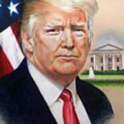 President Donald Trump Art Poster