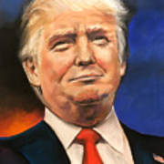 President Donald Trump Portrait Poster