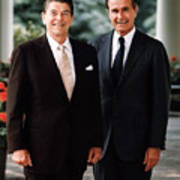President Reagan And George H.w. Bush - Official Portrait  Poster