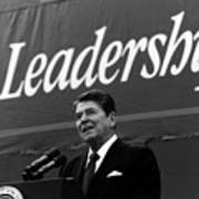 President Ronald Reagan Leadership Photo Poster