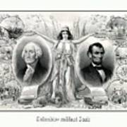 Presidents Washington And Lincoln Poster