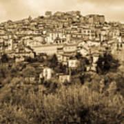 Pretoro - Landscape In Sepia Tones  Poster
