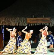 Pretty Dancers In Tahiti Poster