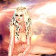 Pretty In Peach Galaxies Poster