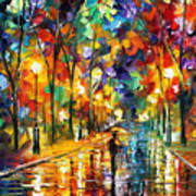 Pretty Night - Palette Knife Oil Painting On Canvas By Leonid Afremov Poster
