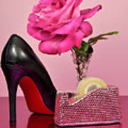 Pretty Pink Bling Office Accessories Poster