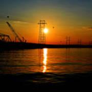 Price Legg Bridge Sunset Poster