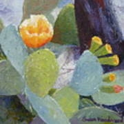 Prickly Pear In Bloom Poster