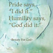 Pride Says Poster