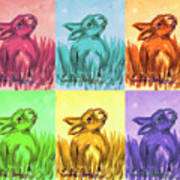 Primary Bunnies Poster